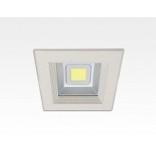 8W LED Einbau Downlight weiß quadratisch Neutral Weiß / 4000-4500K 480lm 230VAC IP44 120Grad