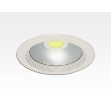 8W LED Einbau Downlight weiß rund Neutral Weiß / 4000-4500K 480lm 230VAC IP44 120Grad