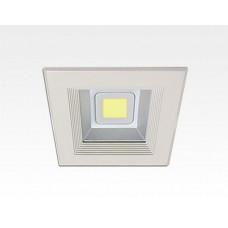 10W LED Einbau Downlight weiß quadratisch Neutral Weiß / 4000-4500K 600lm 230VAC IP44 120Grad