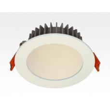 12W LED Einbau Downlight weiß rund dimmbar Neutral Weiß / 4000-4500K 840lm 230VAC IP40 120Grad