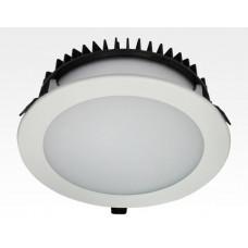 30W LED Einbau Downlight weiß rund dimmbar Neutral Weiß / 4000-4500K 2100lm 230VAC IP40 120Grad