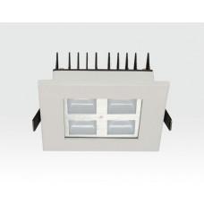 4W LED Einbau Downlight weiß quadratisch Warm Weiß / 2700-3200K 260lm 230VAC IP40 120Grad -Ausstellungsstück mit kleinen Schönheitsfehler
