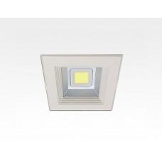8W LED Einbau Downlight weiß quadratisch Warm Weiß / 2700-3200K 480lm 230VAC IP44 120Grad