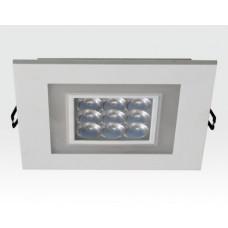 9W plus 3W LED Einbau Downlight weiß quadratisch Warm Weiß / 2700-3200K 585lm 230VAC IP40 120Grad
