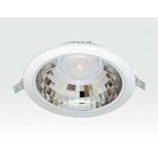 9W LED Einbau Downlight weiß rund Warm Weiß / 2700-3200K 585lm 230VAC IP40 120Grad