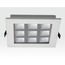 9W LED Einbau Downlight weiß quadratisch Warm Weiß / 2700-3200K 585lm 230VAC IP40 120Grad
