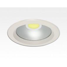 10W LED Einbau Downlight weiß rund Warm Weiß / 2700-3200K 600lm 230VAC IP44 120Grad