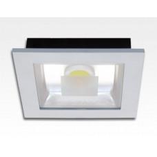 15W LED Einbau Downlight weiß quadratisch Warm Weiß / 2700-3200K 975lm 230VAC IP40 120Grad