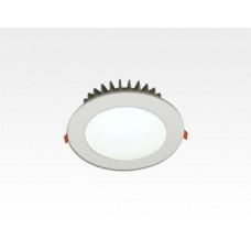 12W LED Einbau Downlight weiß rund Warm Weiss / 2700-3200K 840lm 230VAC IP44 120Grad