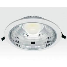 15W LED Einbau Downlight weiß rund Warm Weiß / 2700-3200K 975lm 230VAC IP40 120Grad -Ausstellungsstück mit kleinen Schönheitsfehlern