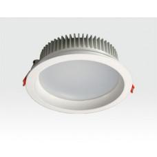 24W LED Einbau Downlight weiß rund Warm Weiß / 2700-3200K 2160lm 230VAC IP44 120Grad