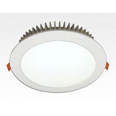 24W LED Einbau Downlight weiß rund dimmbar Warm Weiss / 2700-3200K 2160lm 230VAC IP40 120Grad