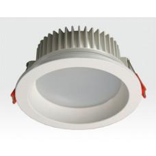 15W LED Einbau Downlight weiß rund Warm Weiß / 2700-3200K 1350lm 230VAC IP44 120Grad -Ausstellungsstück mit kleinen Schönheitsfehlern