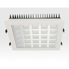 25W LED Einbau Downlight weiß quadratisch Warm Weiß / 2700-3200K 1625lm 230VAC IP40 120Grad