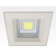 30W LED Einbau Downlight weiß quadratisch Warm Weiß / 2700-3200K 1800lm 230VAC IP44 120Grad