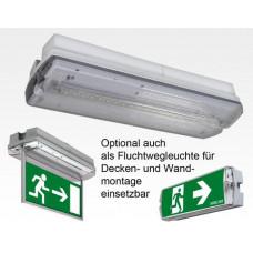 LED Notbeleuchtung mit Folie für alle Richtungen IP65 / Akku >3h EN60598-1 2-22A 20LEDs 4,3W