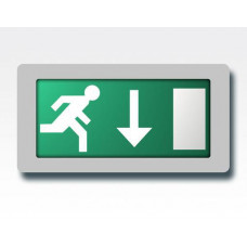 Abverkauf LED Flucht-Tür Orientierungsleuchte, gerade Erkennung 24m / Akku >3h EN60598-1 2-22A 20LEDs 4,5W
