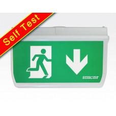 LED Fluchtwegleuchte, alle Richtungen, 24m Selbsttest / Akku >3h EN60598-1 2-22A 20LEDs IP65 4W