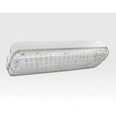 LED Notbeleuchtung IP65 50 LEDs 8,5W Akku >3h / 350x120x75mm 120° EN60598-1; -2-22