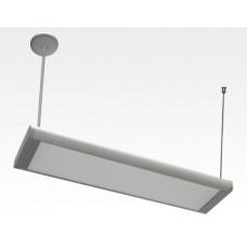 20W LED Lichtbalken Silber abhängend 120Grad Warm Weiß / 2800-3200K 1600lm 230VAC L614mm
