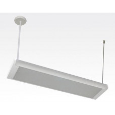 20W LED Lichtbalken Weiß abhängend 120Grad Warm Weiß / 2800-3200K 1600lm 230VAC L614mm