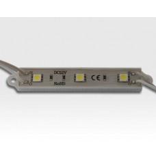 7,2W LED Kette mit 10 Modulen Tageslicht Weiss 115Grad / 5500-6500K 12VDC 48lm/Modul IP65