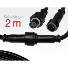 2m Anschlusskabel IP67 Easy Stecker RGB 4-polig / female to male für LTSPSC/RLSC-Serie