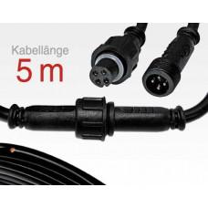 5m Anschlusskabel IP67 Easy Stecker RGB 4-polig / female to male für LTSPSC/RLSC-Serie