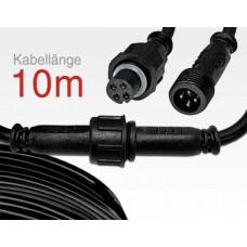 10m Anschlusskabel IP67 Easy Stecker RGB 4-polig / female to male für LTSPSC/RLSC-Serie
