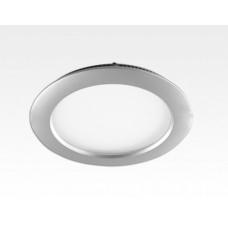 9W LED Paneel silber rund Warm Weiss dimmbar / D150mm 230VAC