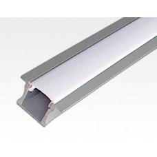 Aluminium Profil 1 m / für LED Lichtbänder max. 10x4,5mm