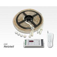 RGBN LED-Paket mit Steuerung Konturbeleuchtung Fassade  / 5m 150W Netzteil zusätzliche weisse LED