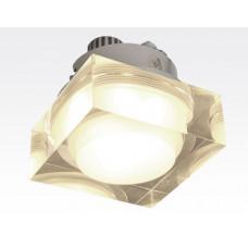 1W LED Einbau Downlight quadratisch dimmbar Warm Weiß / 2700-3200K 90lm 230VAC IP44 110Grad