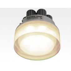 7W LED Einbau Downlight rund dimmbar Warm Weiß / 2700-3200K 630lm 230VAC IP44 110Grad