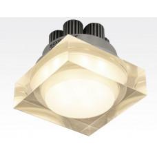 7W LED Einbau Downlight quadratisch dimmbar Warm Weiß / 2700-3200K 630lm 230VAC IP44 110Grad