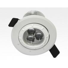 7W LED Fokus Einbauspot weiß rund Neutral Weiß / 4000K 450lm 230VAC 12-38Grad
