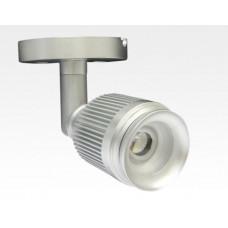 4W LED Fokus Mini Spot mit Halterung silber rund Warm Weiß / 3000K 220lm 230VAC 21-71Grad