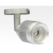 4W LED Fokus Mini Spot mit Halterung silber rund Warm Weiß / 3000K 220lm 230VAC 25-65Grad