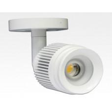 4W LED Fokus Mini Spot mit Halterung weiß rund Warm Weiß / 3000K 220lm 230VAC 25-65Grad