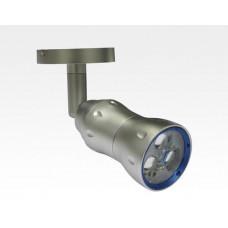8W LED Fokus Mini Spot mit Halterung silber rund Warm Weiß / 3000K 450lm 230VAC 10-33Grad