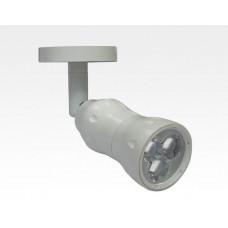 8W LED Fokus Mini Spot mit Halterung weiß rund Warm Weiß / 3000K 450lm 230VAC 10-33Grad