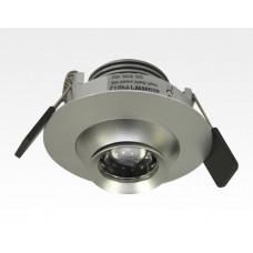 5W LED Fokus Einbauspot silber rund Warm Weiß / 3000K 310lm 230VAC 16-39Grad