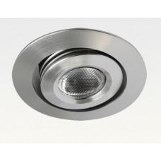 3W LED Miniatur Design Einbau Leuchte Warm Weiß 45Grad / 135lm +/-30 Grad schwenkbar 12VDC