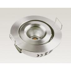 3W LED Miniatur Design Einbau Leuchte Warm Weiß 45Grad dimmbar / 135lm +/-30 Grad schwenkbar 12VDC