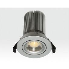 15W LED Spot silber klar Neutral Weiß / 750lm IP44 230VAC