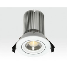 15W LED Spot silber klar Neutral Weiß dimmbar / 750lm IP44 230VAC