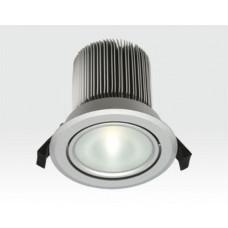 18W LED Spot silber frosted Neutral Weiß dimmbar / 900lm IP44 230VAC-Ausstellungsstück mit kleinen Schönheitsfehlern