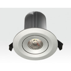 15W LED Einbau Leuchte silber Neutral Weiß / IP44 230VAC