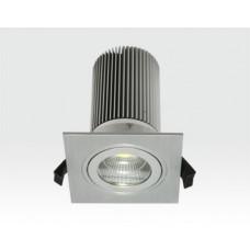 13W LED Einbau Leuchte silber Neutral Weiß / IP44 230VAC