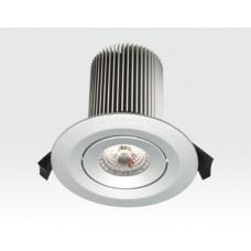 15W LED Einbau Leuchte silber Neutral Weiß / 650lm IP44 230VAC